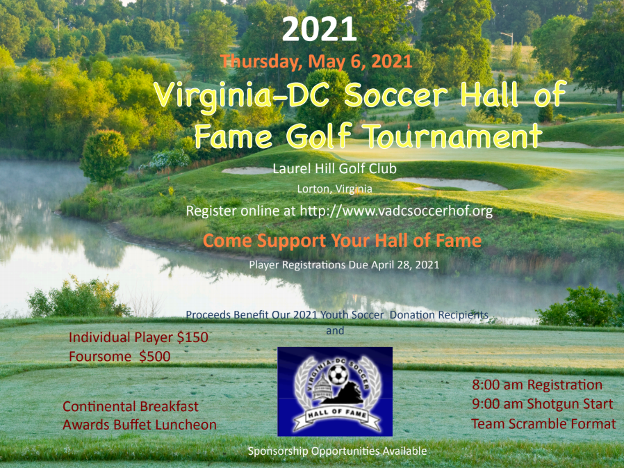 Virginia DC Soccer Hall of Fame Golf Tournament